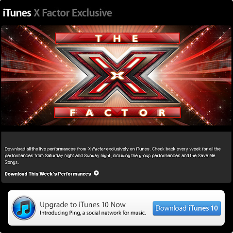 X Factor follows Glee's iTunes lead