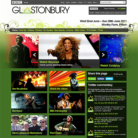 Girls run the world at 2011 Glastonbury
