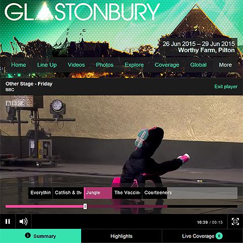 BBC improve Glastonbury streaming with iPlayer timeline navigation
