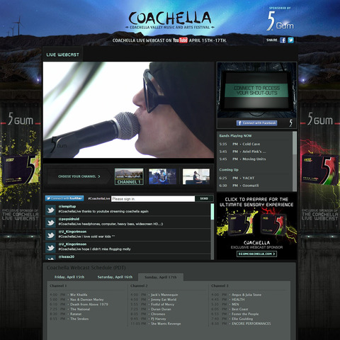 Superb Live Streaming Coverage of Coachella by YouTube