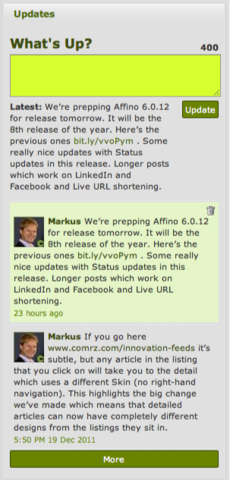 Long Status Updates