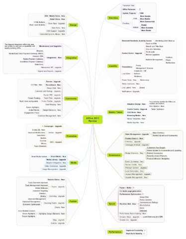 Affino 2011 Highlights Mindmap