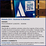 Procurement Leaders Win Association of Online Publishers Best B2B Website Award