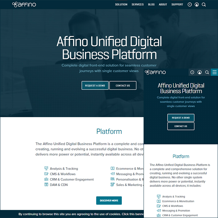 Affino.com Responsive Phase 1 finally officially complete!
