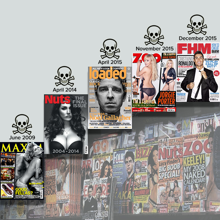 Death of the Lads' Mag marks end of an era in Men's Magazine Publishing