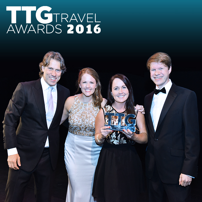 Affino CEO Markus receives Viking Clap at 2016 TTG Travel Awards