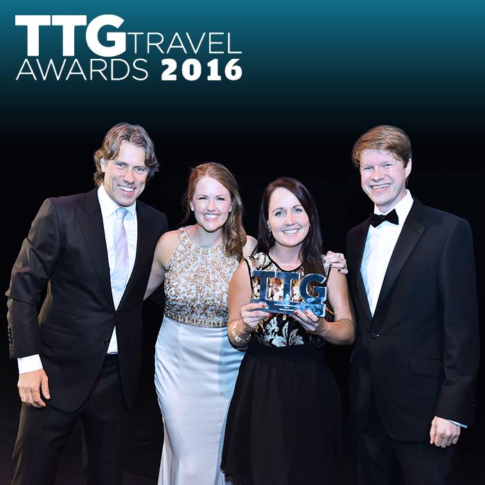 Affino CEO Markus receives Viking Clap at 2016 TTG Travel Awards