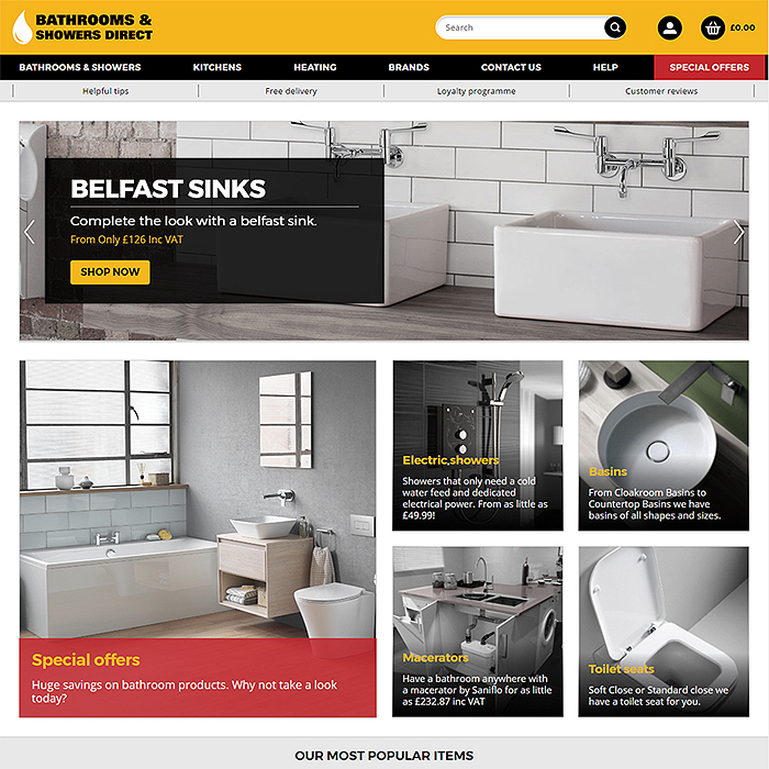 Bathrooms and Showers Direct Refreshes and Reinvigorates its Digital Presence with Affino