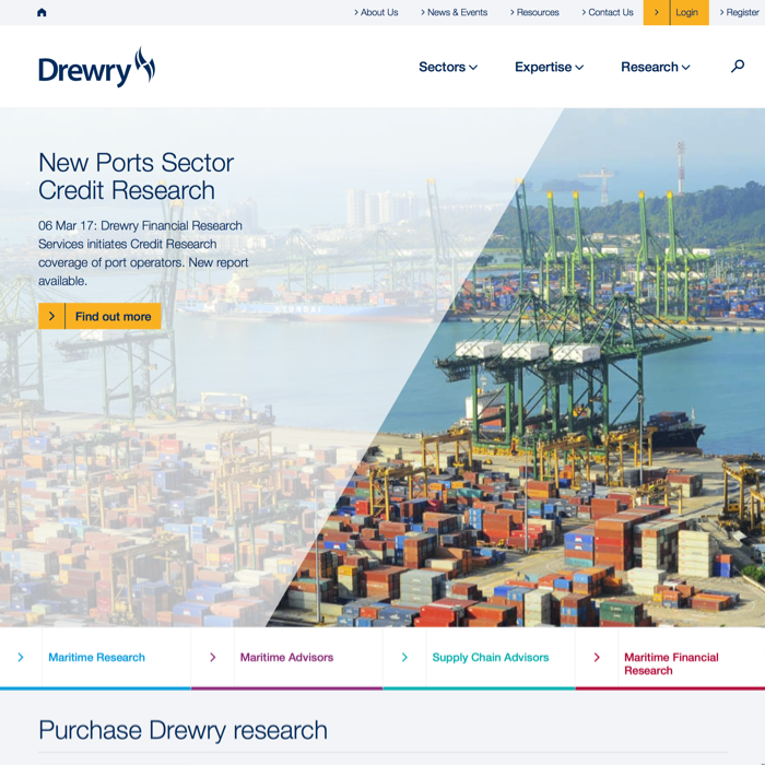 Drewry Homepage April 2017