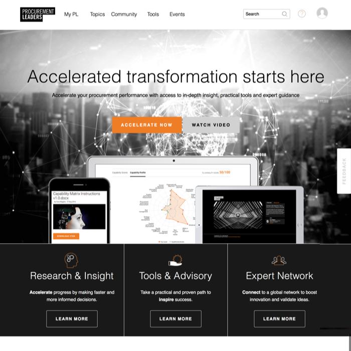 Procurement Leaders Homepage April 2017