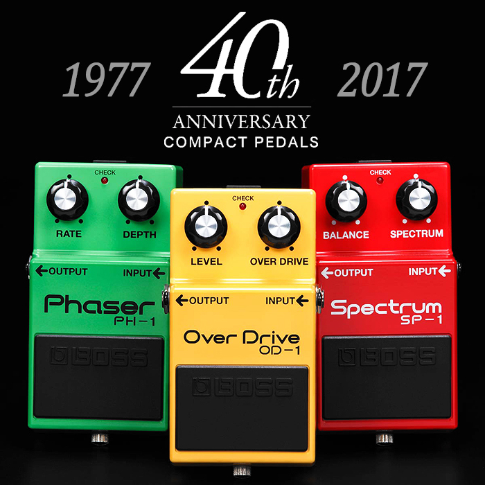 2017 Launched 40th Anniversary Compact Pedals