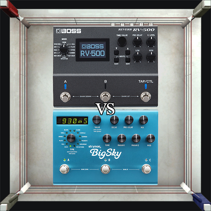 Boss RV-500 vs Strymon BigSky - including full list of RV-500 Presets