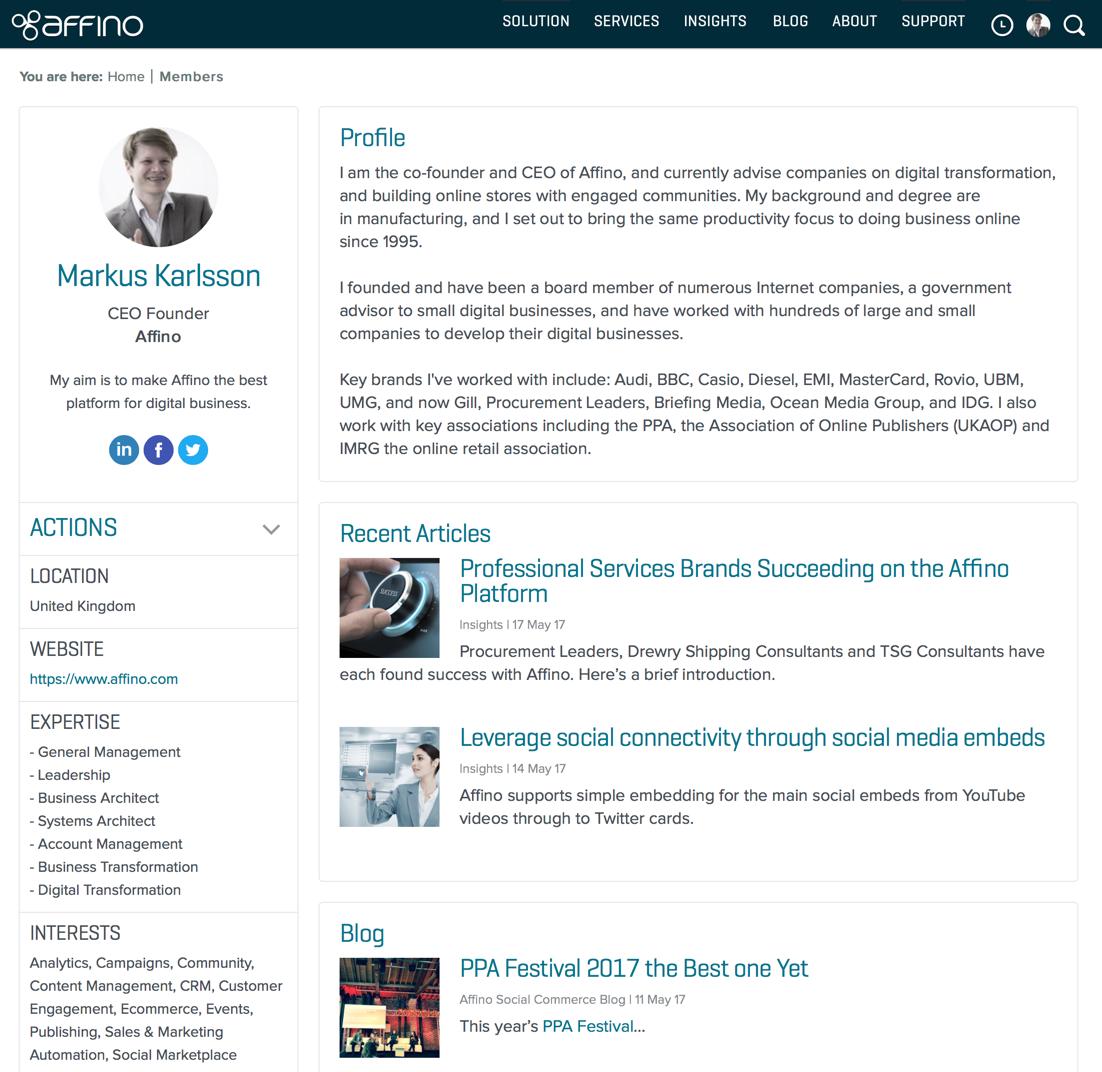 Social Platform - New Public Profiles