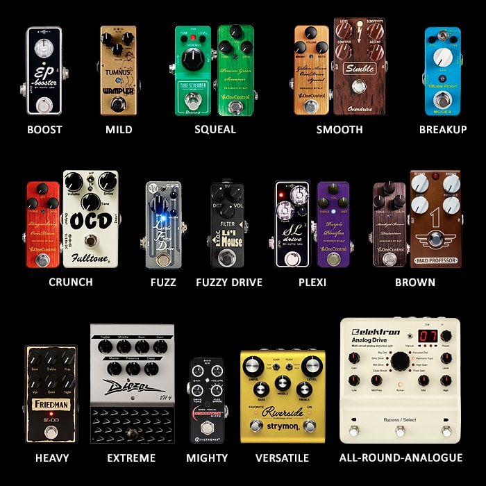 Figuring out Overdrive, Fuzz and Distortion Pedals - '12 Degrees of Saturation'