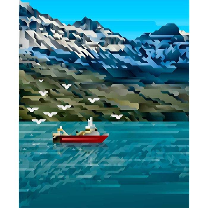 Siggi Eggertsson (Sigurður) (1984 > ) - Landsbankinn Sjómannadagur / Seaman's Day (2019) (Digital Art / Graphics)