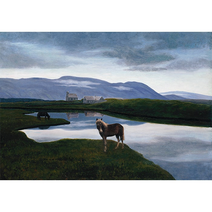 Þórarinn B. Þorláksson (1887-1924) - Þingvellir / Thingvellir (1900) [Oil on Canvas]
