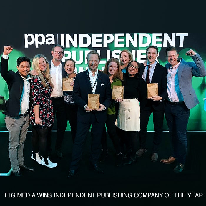 TTG Media Wins 4 Awards at the PPA Independent Publisher Conference & Awards - including Independent Publishing Company of the Year