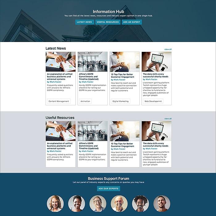 2020 Affino Info Hub Tutorial Design Styles