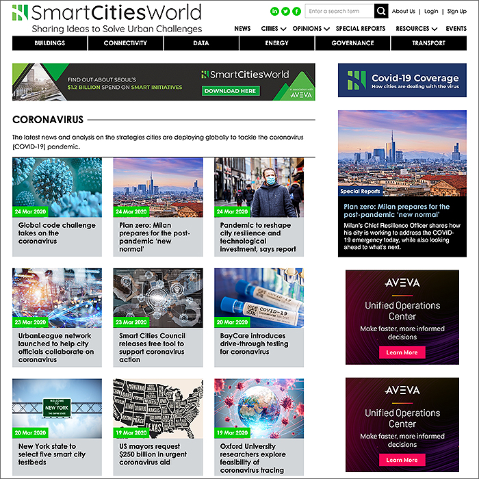 Smart Cities World Coronavirus Hub