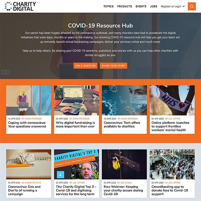 Charity Digital Covid-19 Resource Hub