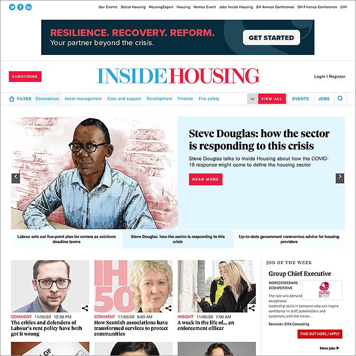 Inside Housing Coronavirus Hub