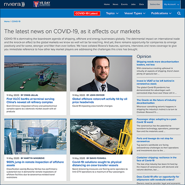 Riviera Maritime Media Covid-19 Latest News Hub