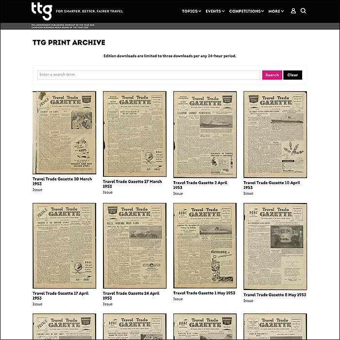 TTG Archive