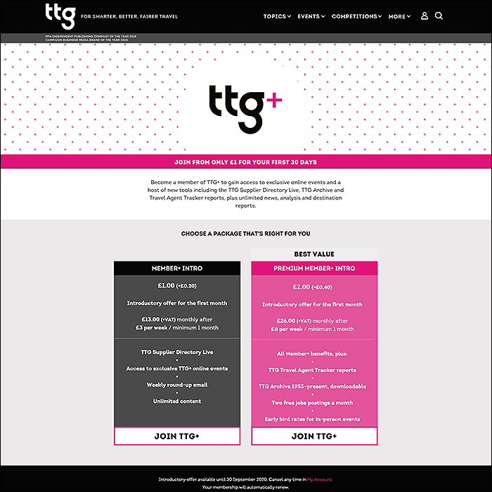 TTG Launches Extended TTG+ and TTG+ Premium Memberships on Affino's Enhanced SaaS Service