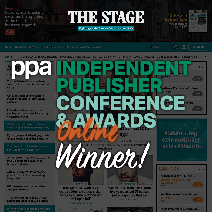 Congratulations to The Stage for winning Team of the Year and getting a Highly Commended Award for Podcast of the Year at this Evening's PPA IPN Awards