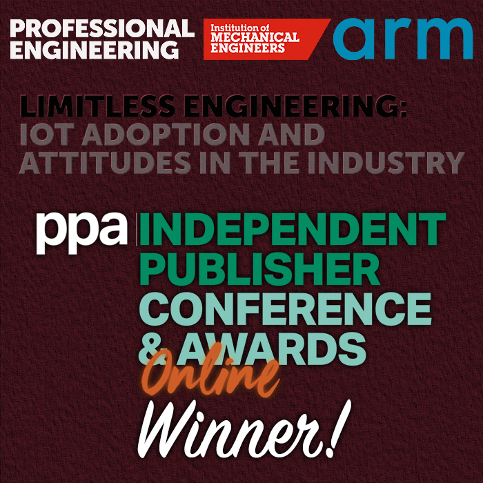 The Institution of Mechanical Engineers & Arm Take the Win for Commercial Partnership of the Year Category at this Evening's PPA IPN Awards