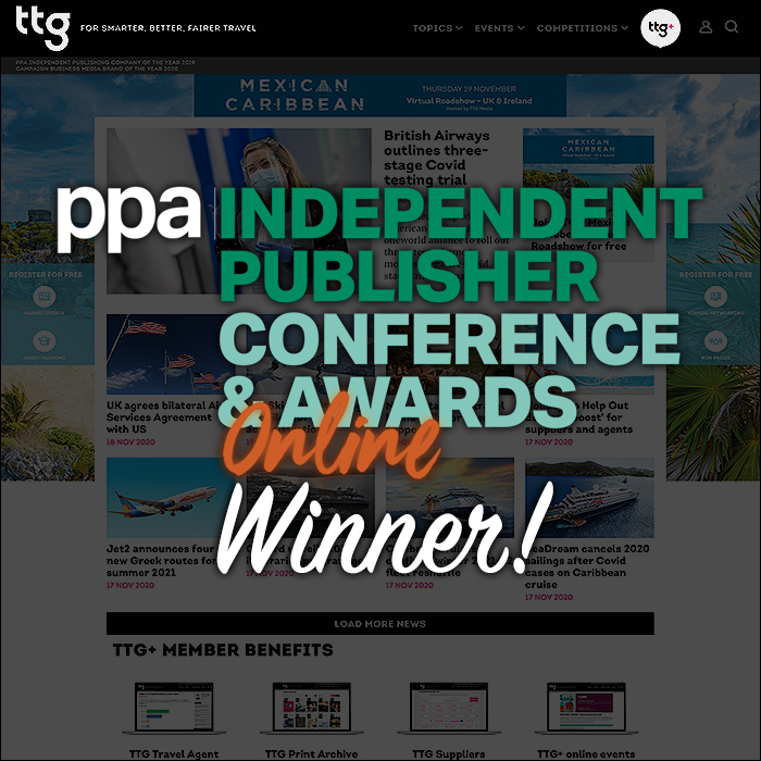 Congratulations to TTG Media for their Highly Commended Award in the Coronavirus Response Category at this Evening's PPA IPN Awards
