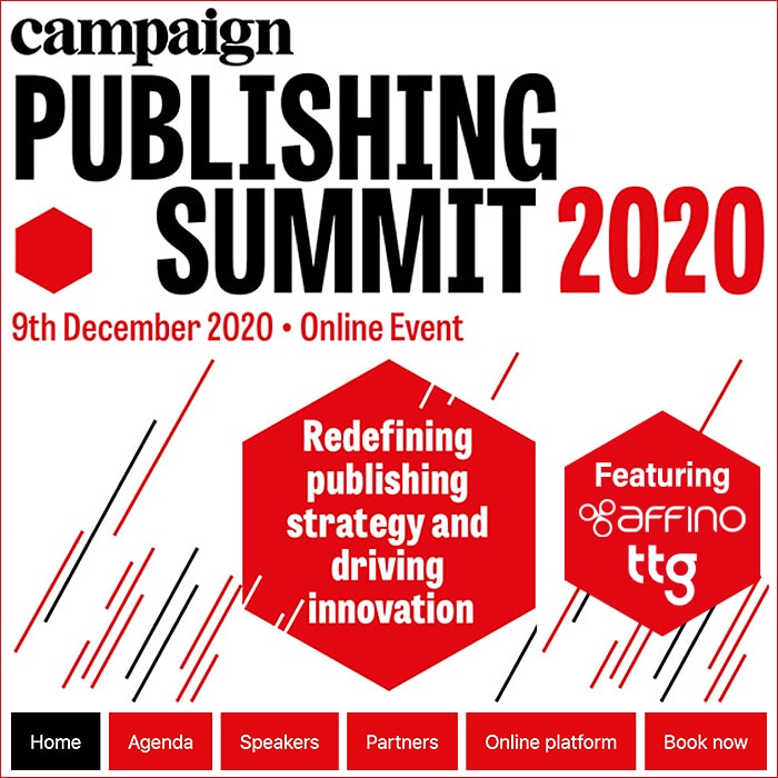 Affino and TTG are Participating at the Campaign Publishing Summit on December 9th