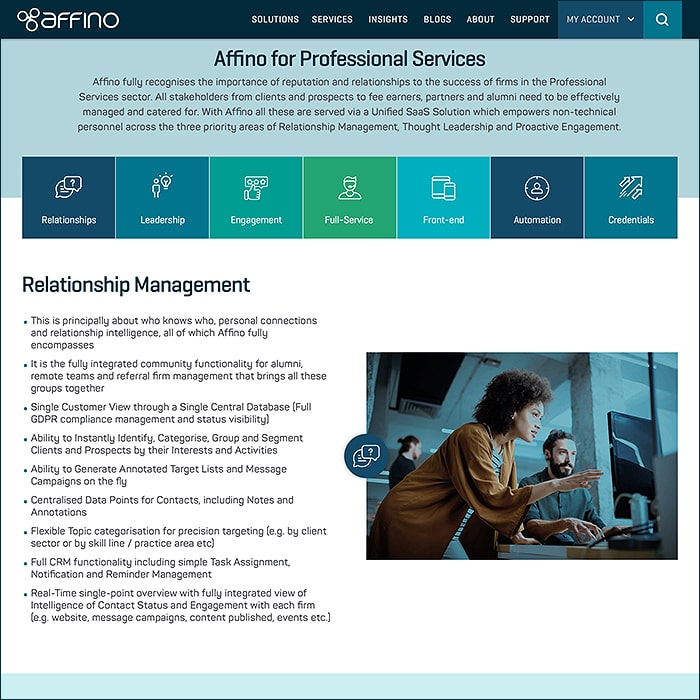 Affino for Professional Services