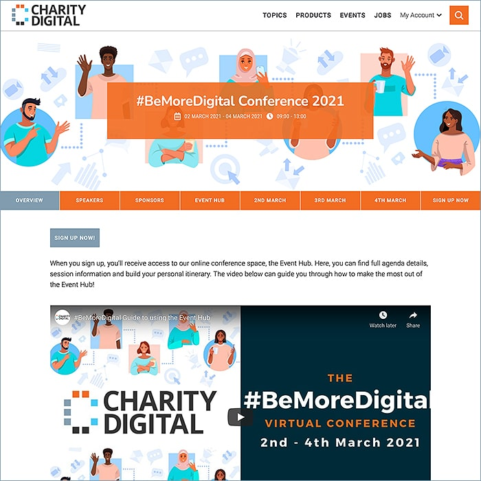 Affino's Unified Business Platform at the Core of Charity Digital's Popular 'Be More Digital Conference' Live Virtual Event - alongside Zoom and Remo