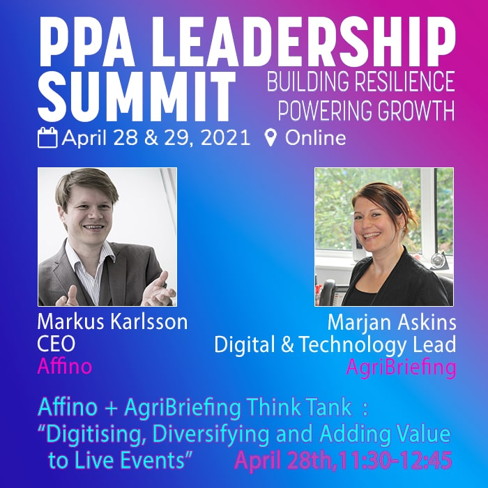 Affino is Participating alongside AgriBriefing / LAMMA 365 at PPA's Leadership Summit Event on April 28th/29th