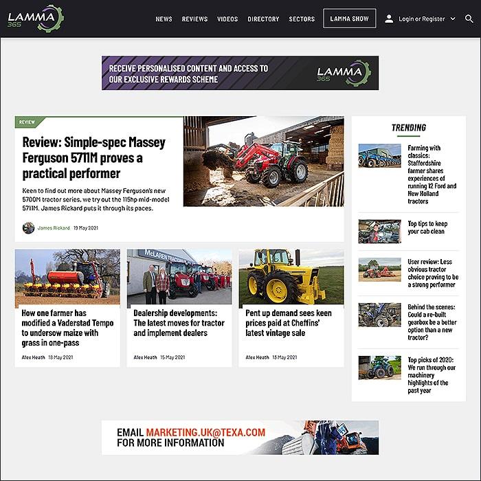 AgriBrefing's LAMMA365 Website Visual Guide